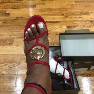 Authentic Gucci heeled sandals